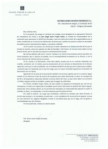 Reclamación a Ricardo Rodríguez SL
